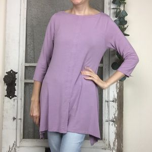 Soft Surroundings Stretch 3/4 Sleeve Jersey Tunic